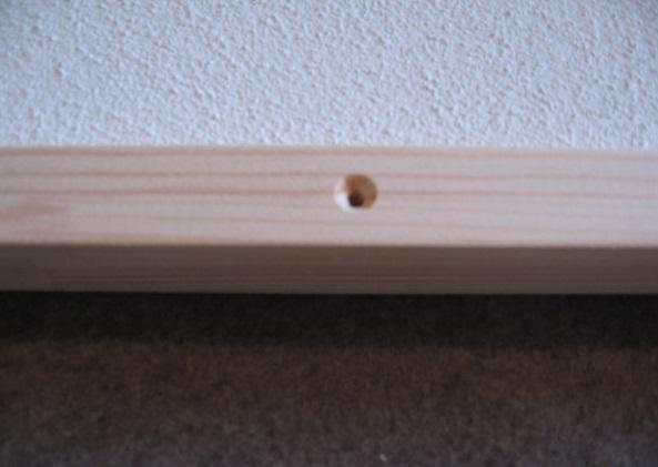 Detail dreveneho ramu infrapanel